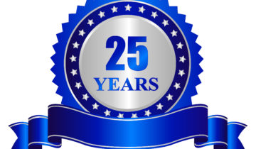 25 Years Anniversary Seal Stamp With Banner